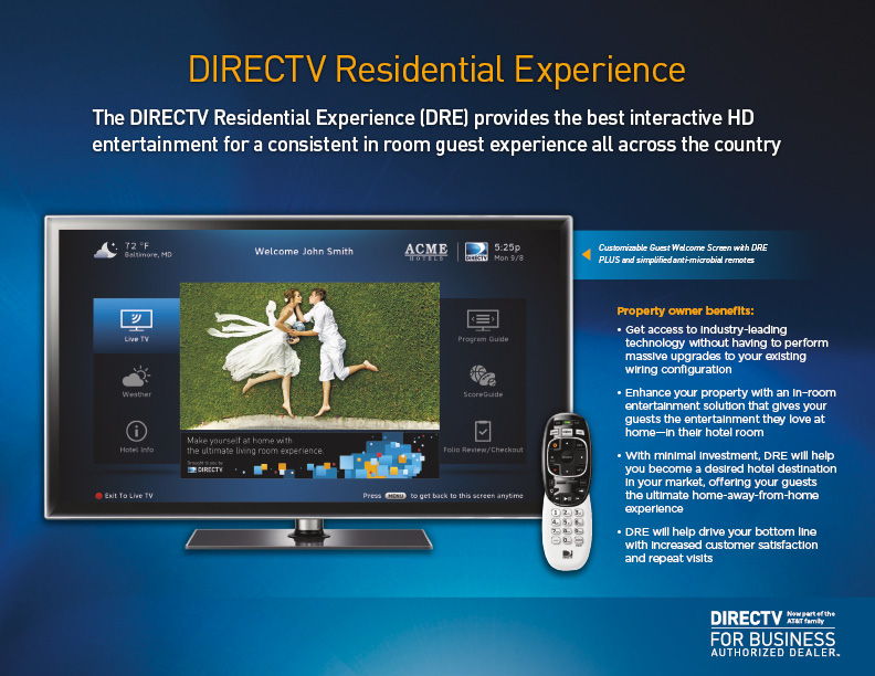 DIRECTV for Business Residential Experience