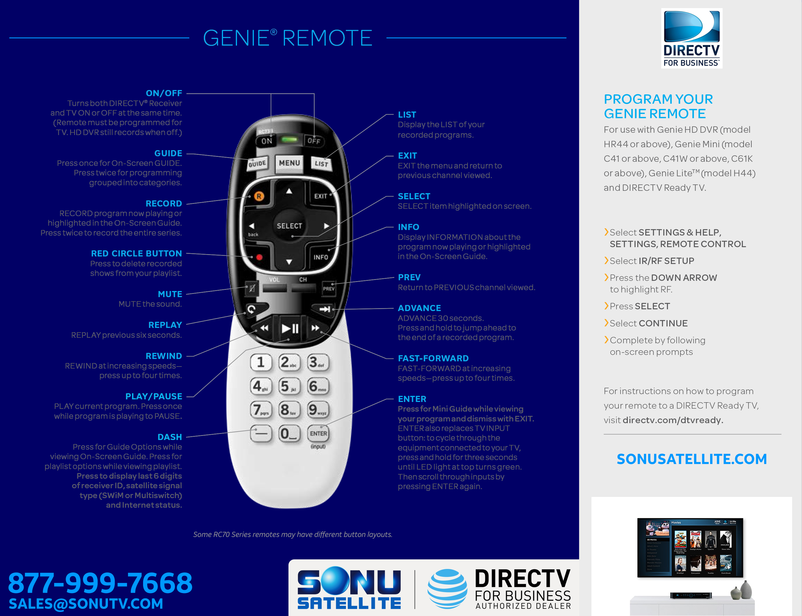 DIRECTV Remote Troubleshooting and Guide - Sonu Satellite TV