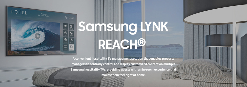 Samsung-Hospitality-TV-LYNK-REACH-Hotel-Content-Management-System-Banner