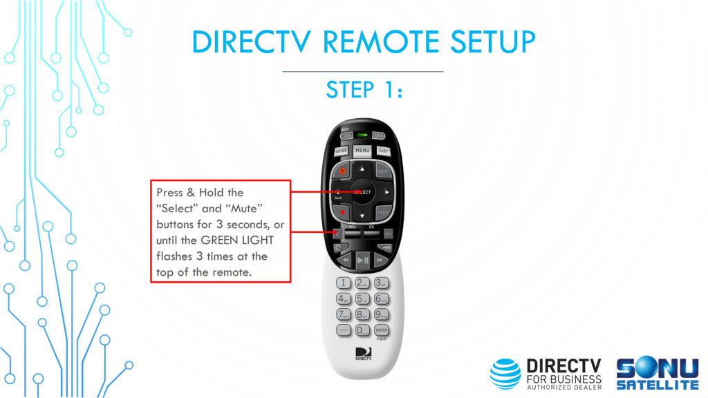 DIRECTV Remote Codes Setup Step 1