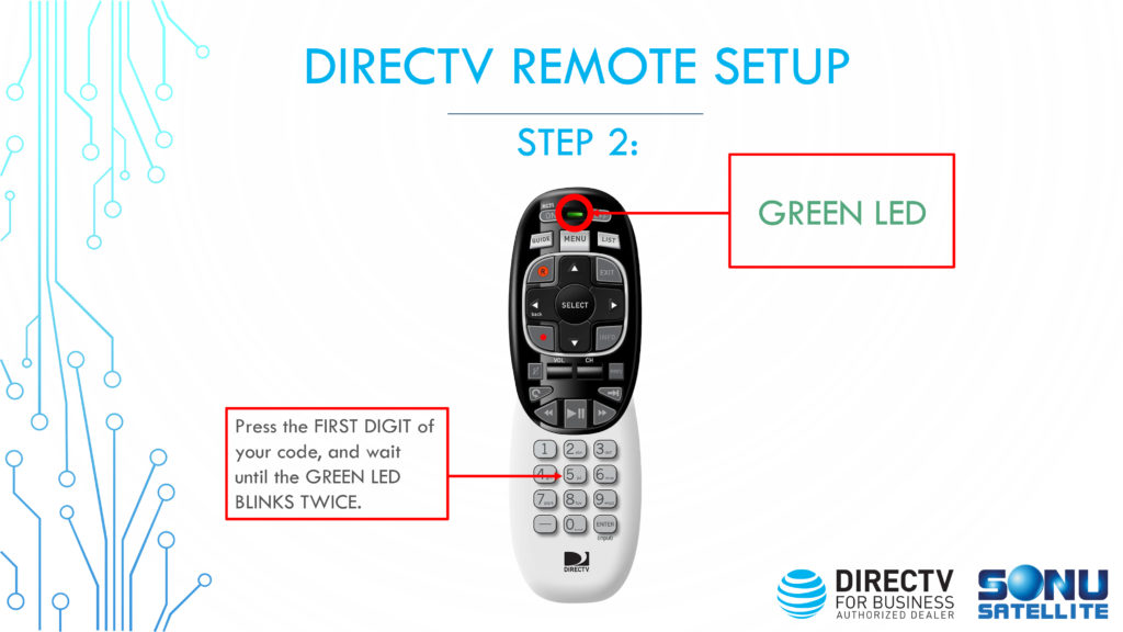 DIRECTV Remote Codes Setup Step 2