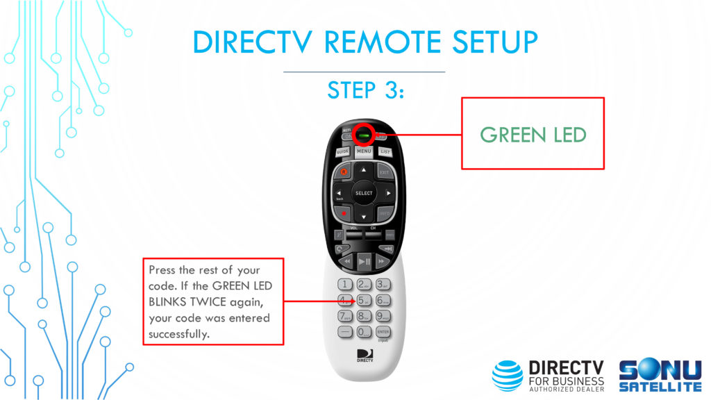 DIRECTV Remote Codes Setup Step 3