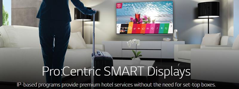 LG Hospitality TVs Pro Centric SMARTV
