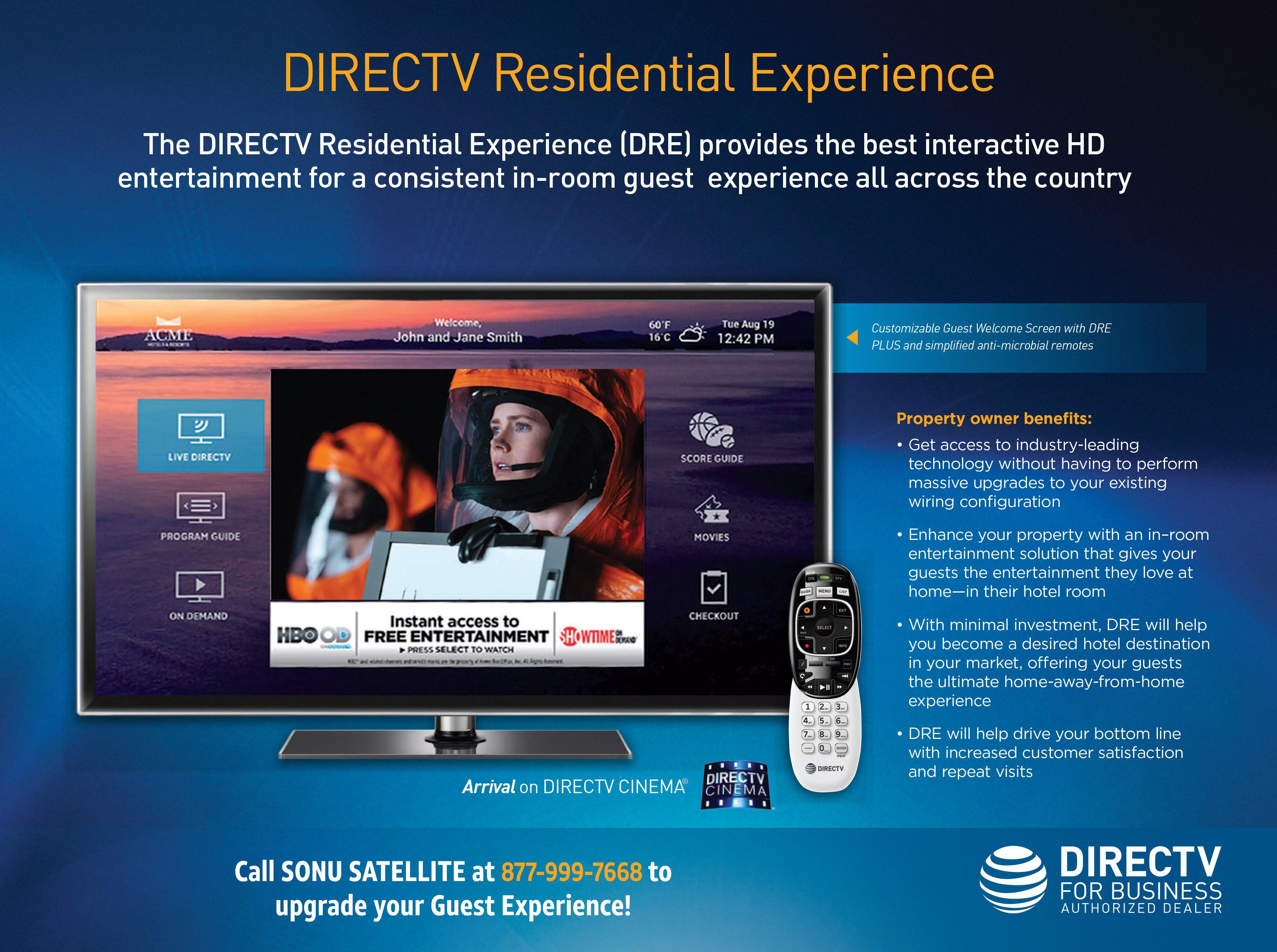 DIRECTV Residential Experience vs DRE Plus