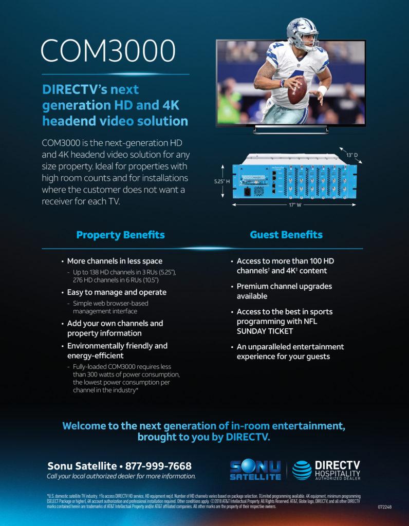 DIRECTV Com3000 Commercial Headend TV System
