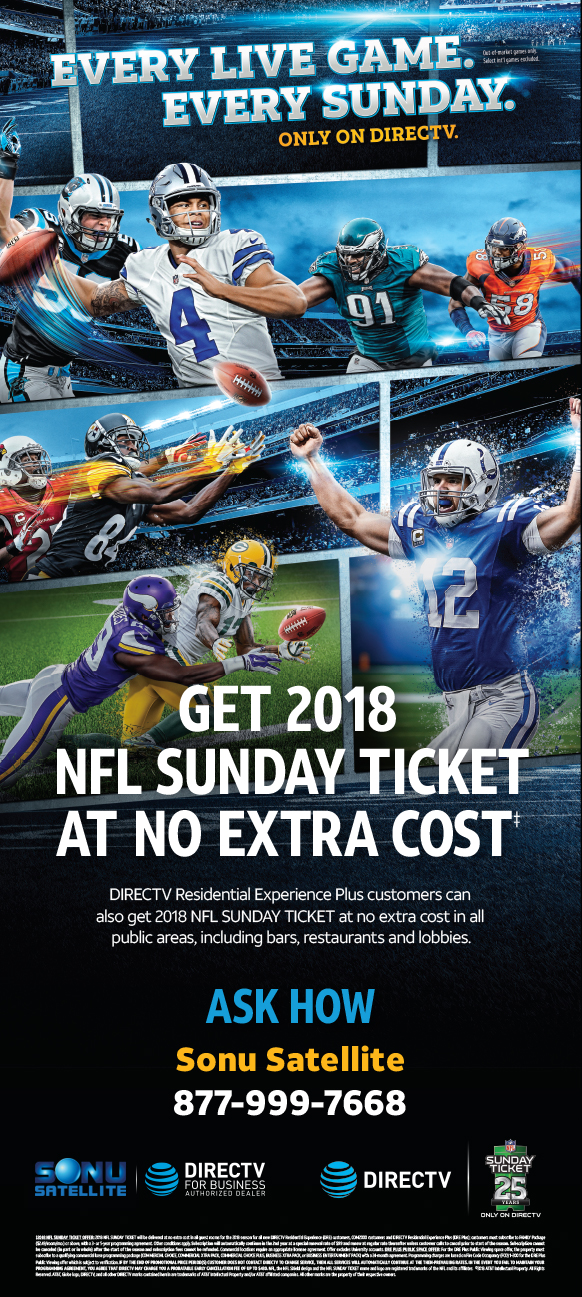 2018 Nfl Season Schedule Directv Nfl Sunday Ticket For
