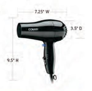 CONAIR-Hospitality-047BW-Hair-Dryer-Hotel-Supply