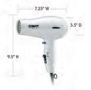 CONAIR-Hospitality-047W-Hair-Dryer-Hotel-Supply