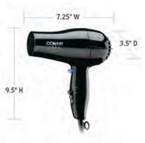 CONAIR-Hospitality-247BW-Hair-Dryer-Hotel-Supply