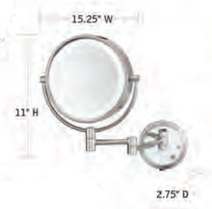 CONAIR-Hospitality-BE6BLEDCWH-Hotel-Mirror-Hotel-Supply