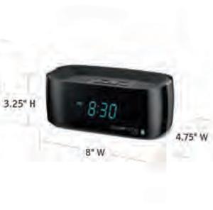 CONAIR-Hospitality-WCL75BK-USB-alarm-clock-Hotel-Supply