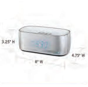 CONAIR-Hospitality-WCL75S-USB-alarm-clock-Hotel-Supply