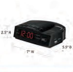 CONAIR-Hospitality-WCR14-USB-alarm-clock-Hotel-Supply