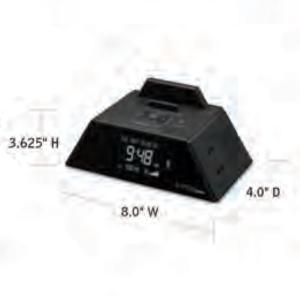 CONAIR-Hospitality-WCR450-USB-alarm-clock-Hotel-Supply