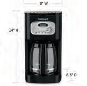 CUISINART-Hospitality-DCC-1100BKW-Coffee-Maker-Hotel-Supply