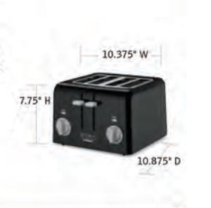 CUISINART-Hospitality-WPT440W-WPT440BK-Toaster-Hotel-Supply