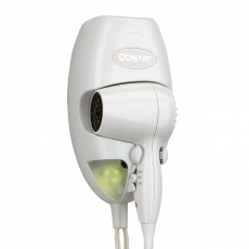 Conair Hotel Hair Dryer 1600 Watt Wall Mount 134W
