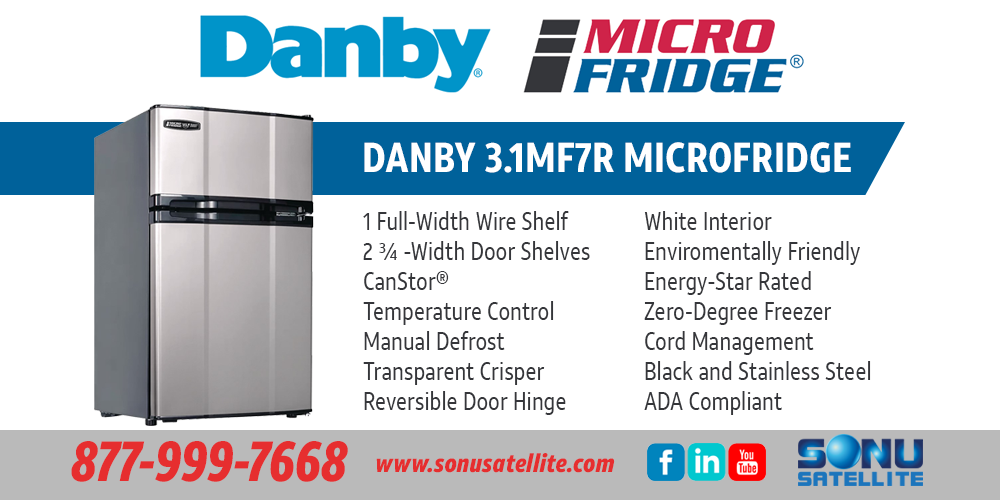 Mini-Fridge for Hospitality | Danby 3 1MF7R MicroFridge | 877-999-7668