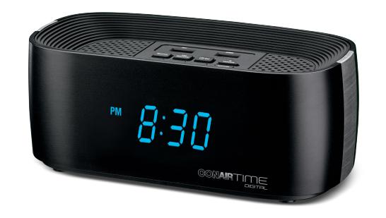 Conair Hotel Alarm Clock Radio WCL70BK
