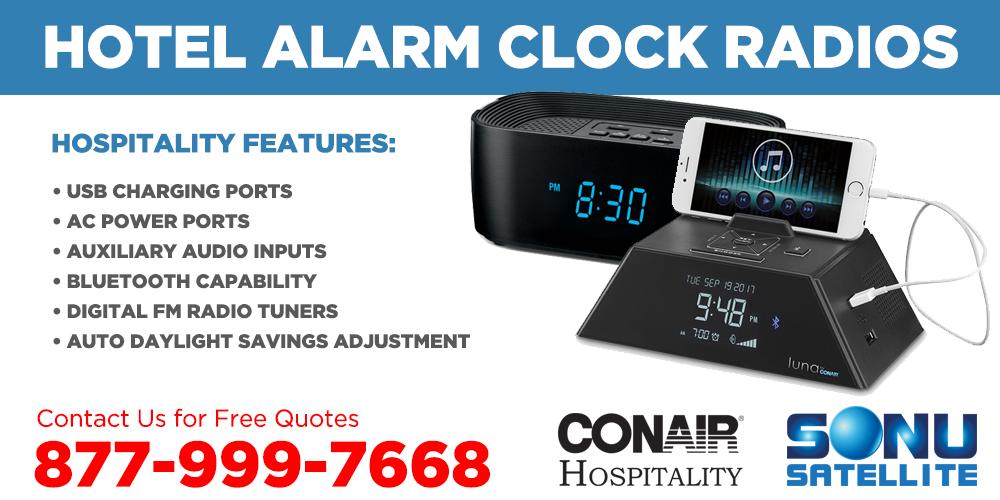 Hotel-Alarm-Clock-Radios-Conair-Hospitality-Sonu-Satellite