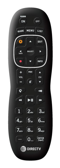 DIRECTV RC80H Clean Remote for Hotels